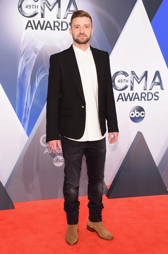Justin Timberlake attends the 49th annual CMA Awards at the Bridgestone Arena on November 4, 2015 in Nashville