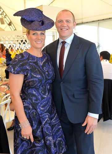 Zara Phillips and Mike Tindall attend the Magic Millions Raceday at Gold Coast Turf Club on January 9, 2016 in Gold Coast
