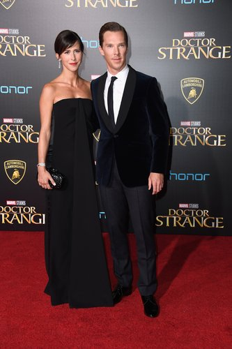 Benedict Cumberbatch and wife Sophie Hunter Premiere Of Disney And Marvel Studios' 'Doctor Strange' on October 20, 2016 in Hollywood