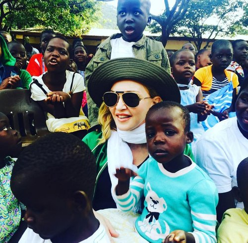 Madonna visits an orphanage in Malawi, July 2016