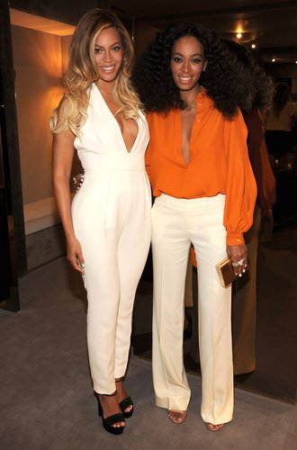 Beyonce and Solange are seeb on June 3, 2014 in New York City