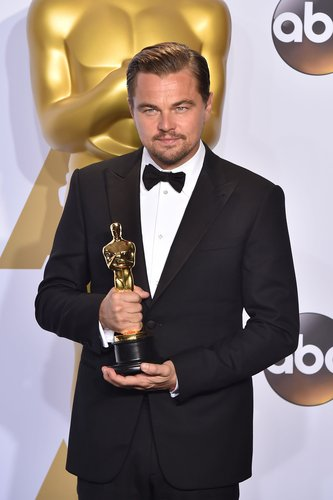 Leonardo DiCaprio, winner of the award for Best Actor in a Leading Role for 'The Revenant,' poses in the press room during the 88th Annual Academy Awards at Loews Hollywood Hotel on February 28, 2016 in Hollywood