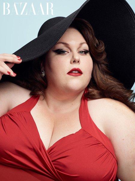 Chrissy Metz in a photoshoot for HarpersBazaar.com