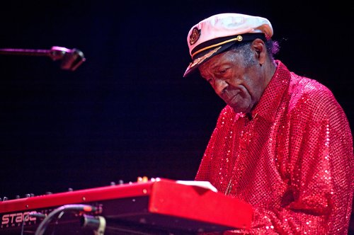 Chuck Berry performs at the Congress Theater on January 1, 2011 in Chicago, Illinois