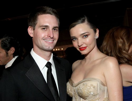 Evan Spiegel and Miranda Kerr attend the Fifth Annual Baby2Baby Gala at 3LABS on November 12, 2016 in Culver City, Calif.