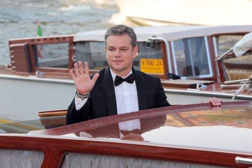 Matt Damon is seen during the 74th Venice Film Festival on August 30, 2017 in Venice, Italy