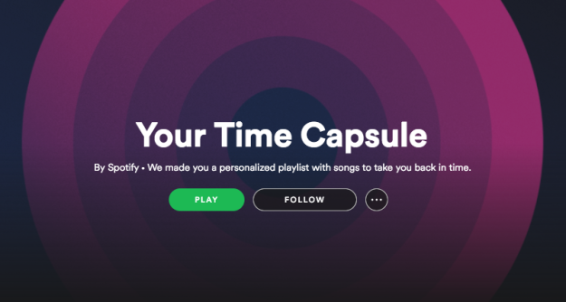 Spotify just launched a Time Capsule playlist option today, and if you've played around in Spotify enough, your Time Capsule may give you some ~feelings.~