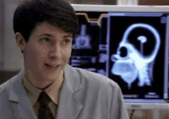 On episode of Bones, an X-ray of Homer Simpson's head appears in the background.