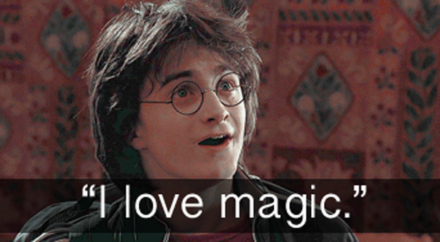 When Harry loved magic in Harry Potter and the Goblet of Fire.
