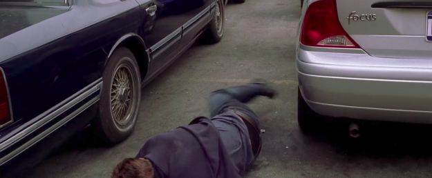 "In Spider-Man 2, Peter said he needs ""strong focus"" before falling and landing on a Ford Focus."
