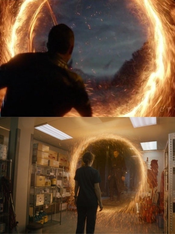 The portals in Agents of Shield are identical to those that are opened up by Stephen Strange in Doctor Strange.