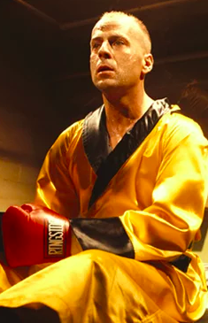 Bruce Willis in Pulp Fiction:
