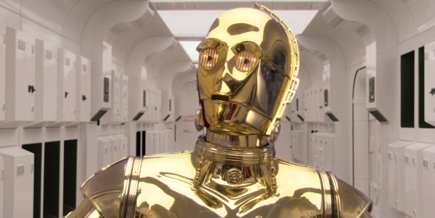 C-3PO isn't entirely useless — he coordinates the activities of Resistance spy droids.