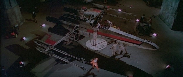 The door to Luke's hut on Ahch-To was made from a piece of the wing to his T-65 X-wing.