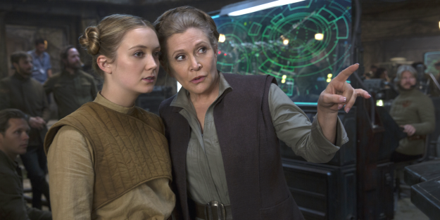 Kaydel Connix (Billie Lourd), was promoted from an operations controller in Force Awakens to lieutenant in Last Jedi.