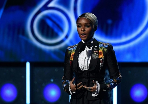 Actor/singer/songwriter Janelle Monae gave a powerful speech at Sunday's Grammys, standing in solidarity with women affected by harassment within the music industry and elsewhere.