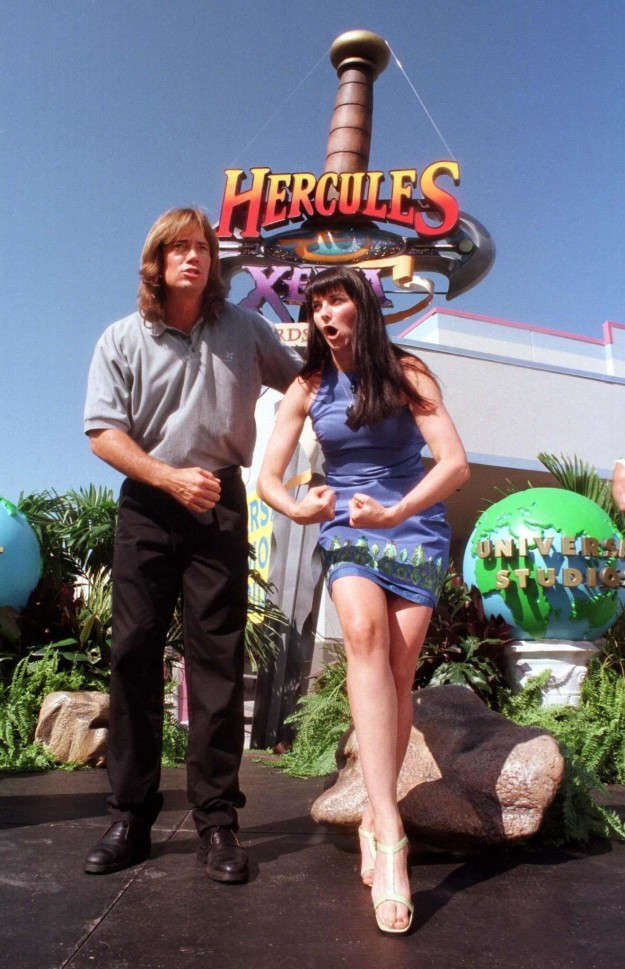Who's Kevin Sorbo, you ask? You might remember him from the show Hercules: The Legendary Journeys. Here he is pictured with Lucy Lawless from Xena: The Warrior Princess in 1997.