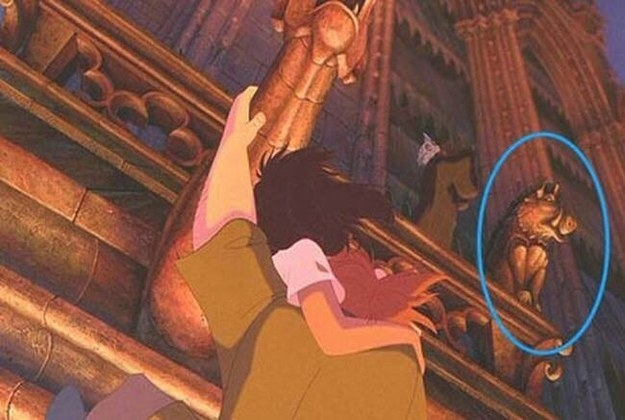 In The Hunchback of Notre Dame, one of the gargoyles is modeled after Pumbaa from The Lion King.