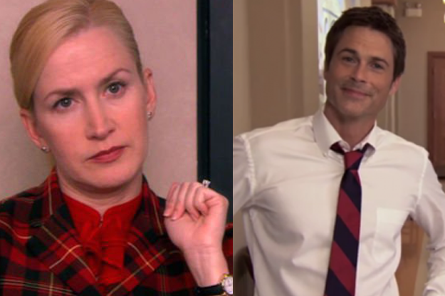 And Angela would be SUPER attracted to Chris, but in all of her interviews she would pretend she found him annoying.