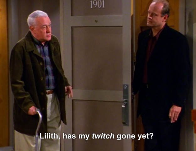 """When he tries to backtrack after getting caught calling Lilith a """"witch"""":"""