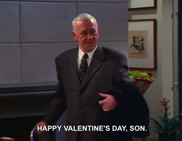 ...but then he makes it right and saves Frasier's Valentine's Day.