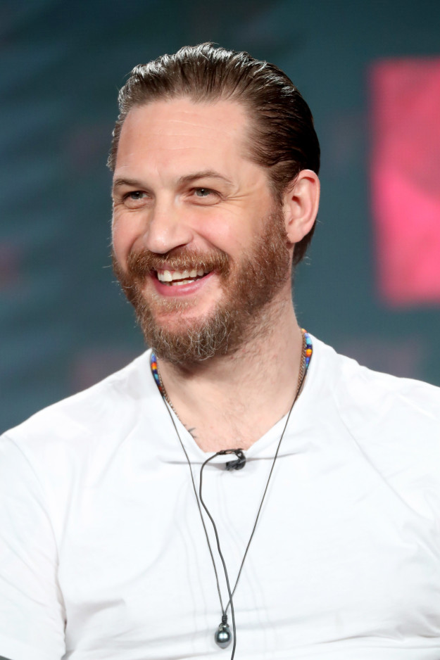 So, we're all familiar with the tall glass of water that is Tom Hardy, right?