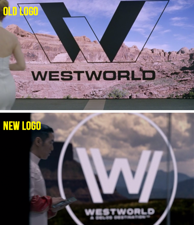 Speaking of the past, did you notice the older, different Westworld logo when we first met young William?