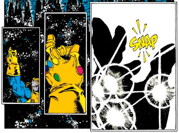 OK, let's talk about that ending, where Thanos snapped his fingers and erased roughly half the universe's population from existence.