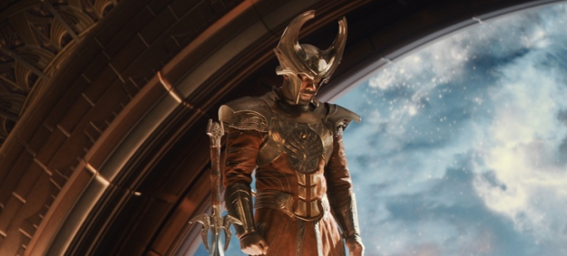 Helping Odin watch over the nine realms is Heimdall, literally the only responsible Asgardian. He has the ability to see and hear everything in the universe and he guards the entrance to Asgard, called the Bifrost.