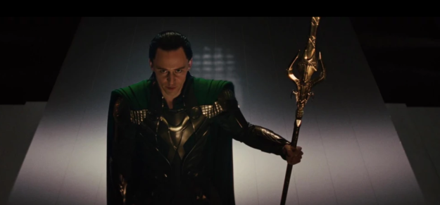 Loki stirs up a whole bunch of drama with the Frost Giants, tries to kill Odin, and also sends a big robot to go kill Thor, who's still stuck in New Mexico.