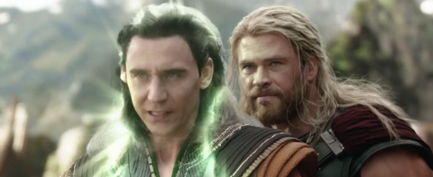 When Thor shows up back on Asgard in Thor: Ragnarok, he obviously immediately clocks that Loki is pretending to be Odin and calls him out for it.
