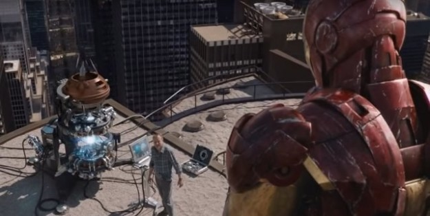 Loki uses the Mind Stone to get the Space Stone and opens up a portal above New York.