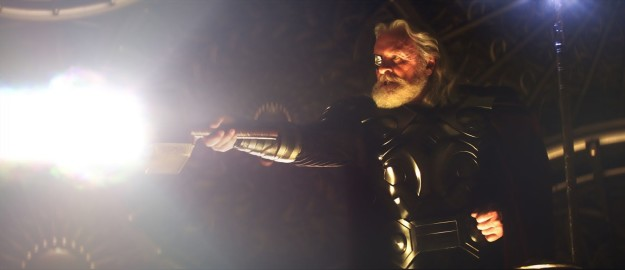 Odin finds out that his idiot son has violated a centuries-old peace treaty and banishes Thor to Earth.