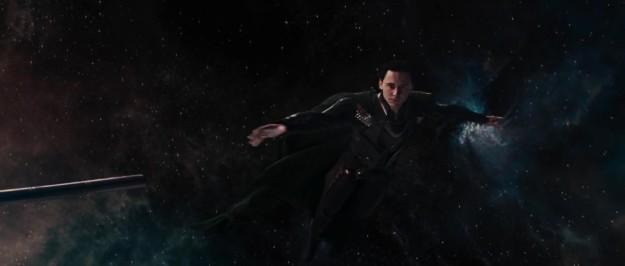 And sends Loki hurdling through space.