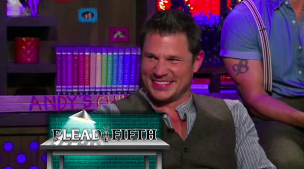 Nick Lachey confessed that when he was married to Jessica Simpson, they would do ~hand stuff~ under the table on Easter Sunday — right in front of Joe Simpson.