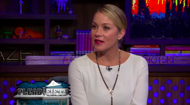 Christina Applegate admitted that she once ditched a date with Brad Pitt to meet up with another famous dude (but she would not reveal his name).